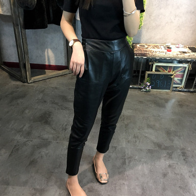 2019 New Fashion Genuine Sheep Leather Pants Y33 in Pants amp Capris from Women 39 s Clothing