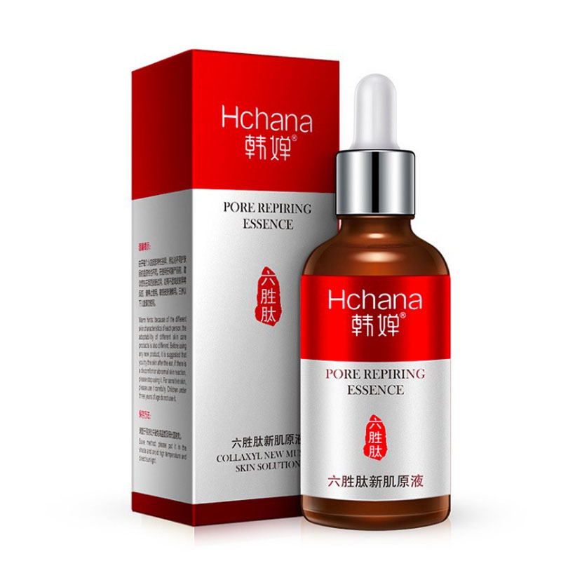 New Six Peptides Serum Essence Anti Aging Wrinkle Remover Face cream Skin Care Products Anti-Aging Argireline Face Liquid 50ML 1pcs six peptides serum for striae anti wrinkle cream anti aging collagen rejuvenating face lift skin care