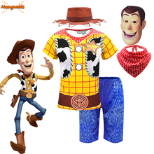 Arrival Boys Woody Costumes Kids Fancy Dress Halloween Costume for Role Play Cowboy Short sleeve Suit