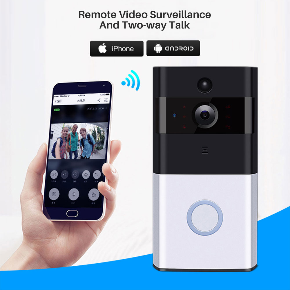 Image 2 - Smart Video Doorbell Camera IP Door bell Two Way Video Intercom PIR Monitor Alarm Remote Home Monitoring Via Smartphone APP-in Doorbell from Security & Protection