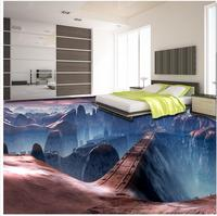 Photo wallpaper mural floor Beautiful scene to bridge floor 3D wall murals wallpaper floor 3d floor tiles