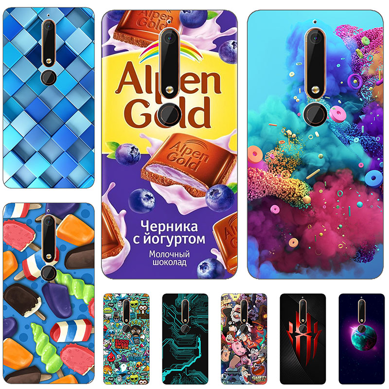 45 styles For Case Nokia 6 (2018) / Nokia 6.1 Cover 3D Pattern Cute Bag Shell For Nokia 6 2018 Case Soft Silicone For Nokia 6.1