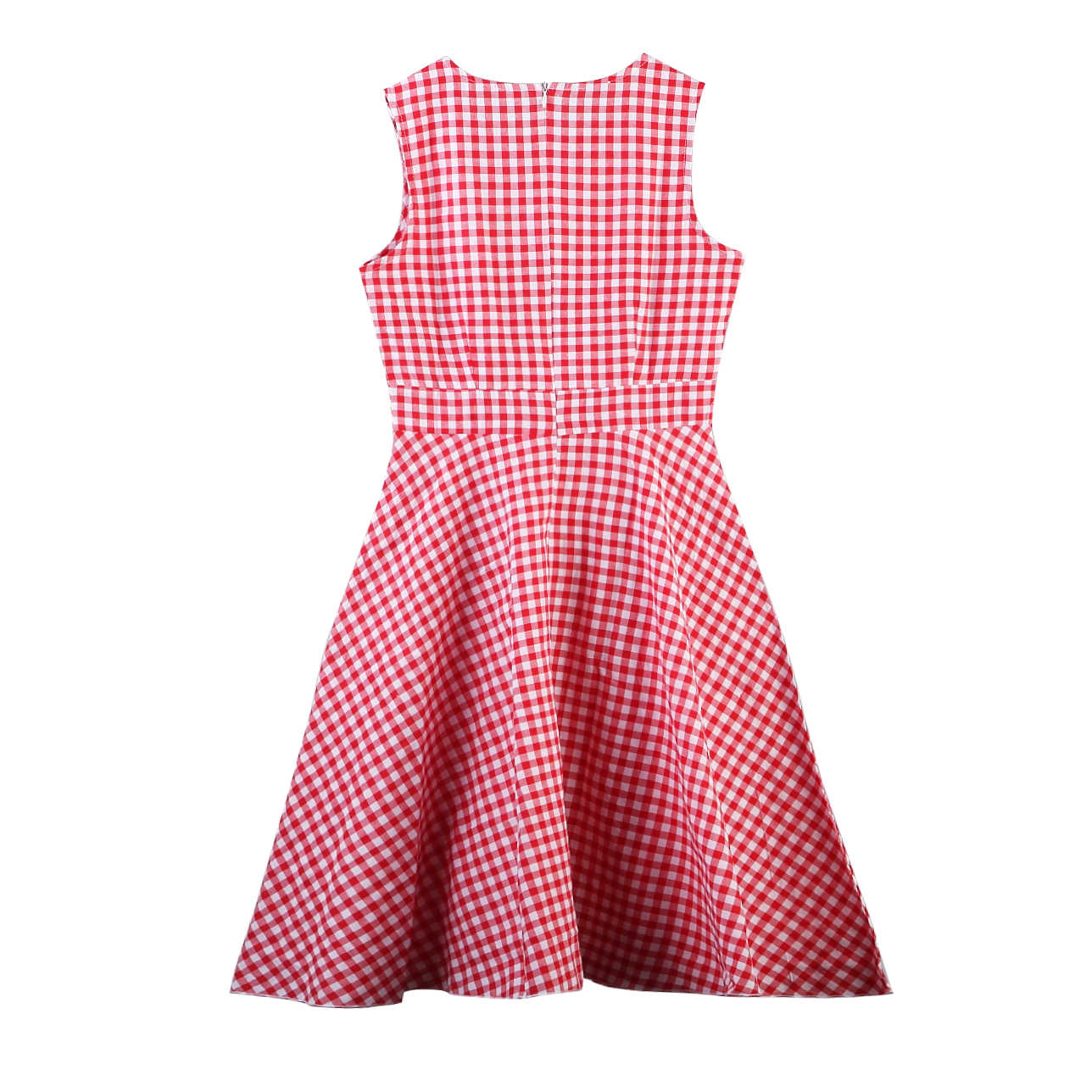 1e9ff87fe0641 New Mother and Daughter Family Matching Clothes Bow Plaid Sleeveless Mid  Dress Kids Knee-Length Maxi Dress