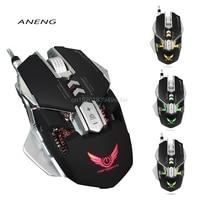 4000 DPI Gaming Maus X300 USB Optische Mechanische Beruf Elektronische Sport Mit 7 Taste LED Verdrahtete Mäusemäuse Für Gamer