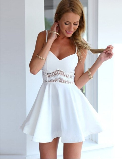 441cef9c5 2016 HOT selling sexy women dress causal summer holiday beach white ...
