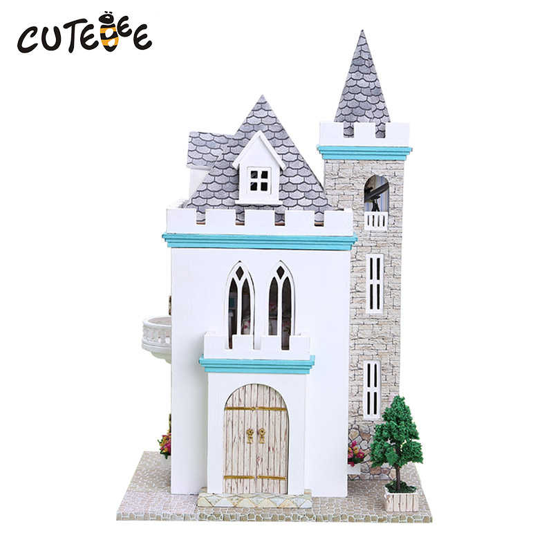 DIY Doll House Wooden Doll Houses Miniature Dollhouse Furniture Kit Toys for Children Gift Doll Houses  Home Decor Craft K012