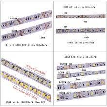 LED Streifen 5M 2835 5730 5050 5054 RGB CCT RGBCCT RGBW RGBWW WARM WEIß 60/120/240 /480 LED 4in1 12V 24V band Licht Streifen Flexible