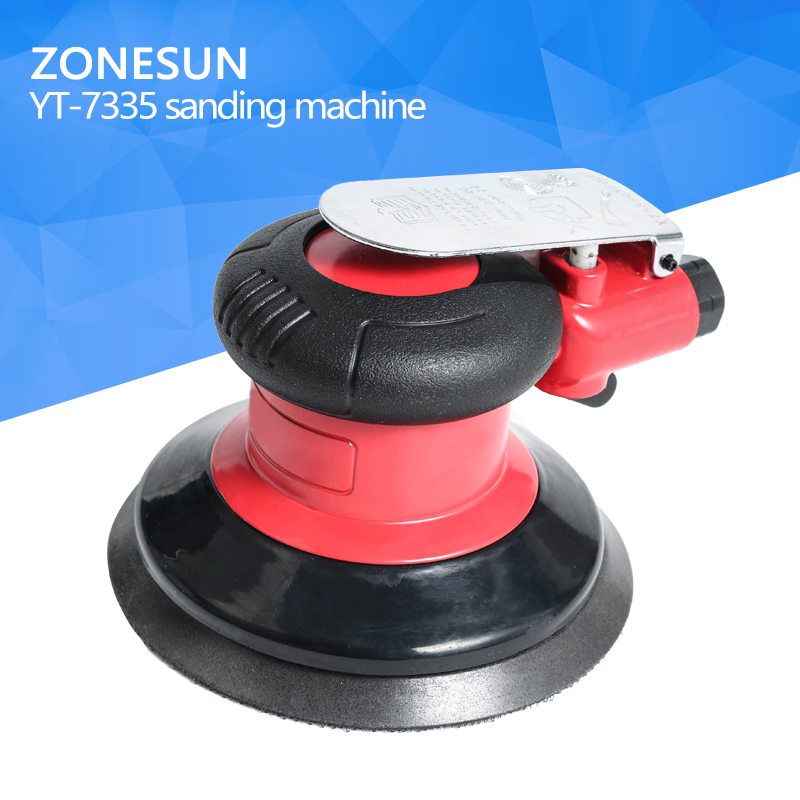 ZONESUN YT-7335 Mini air Sander Grinder Woodworking For Polishing Wood,Metal rust,Wall renovation Car Polisher Sanding Buffing 1pc white or green polishing paste wax polishing compounds for high lustre finishing on steels hard metals durale quality