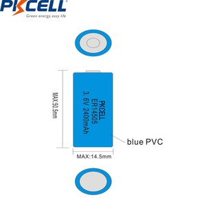 Image 5 - 10個pkcell ER14505バッテリーLiSCLO2 3.6v 2400mah 14505単三リチウム電池一次電池LR6 R6P