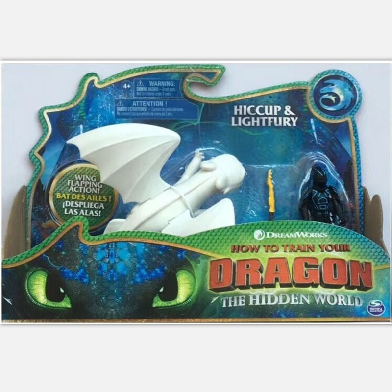 """9""""23cm How to Train Your Dragon Light Fury Toothless Action figure White Dragon Toys For Children's Birthday Gifts"""