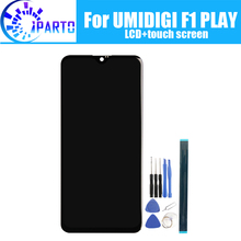 Pantalla LCD de 6,3 pulgadas UMIDIGI F1 PLAY + pantalla táctil 100% digitalizador LCD Original probado reemplazo del Panel de vidrio para UMIDIGI F1 PLAY