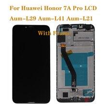 Huawei onur için 7A pro AUM L29 Aum L21 Aum L41 LCD ekran dokunmatik ekran bileşenleri ekran onarım parçaları ile çerçeve