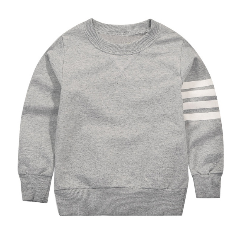 Baby Long Sleeve Pullover Tops Striped Pattern Toddler Boys Girls T-shirts For Autumn Winter Warm Clothes Children's Sweatershir
