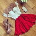 Sexy mulheres casual summer party backless lace curto mini dress (asiático tamanho s = ue eua tamanho xs)