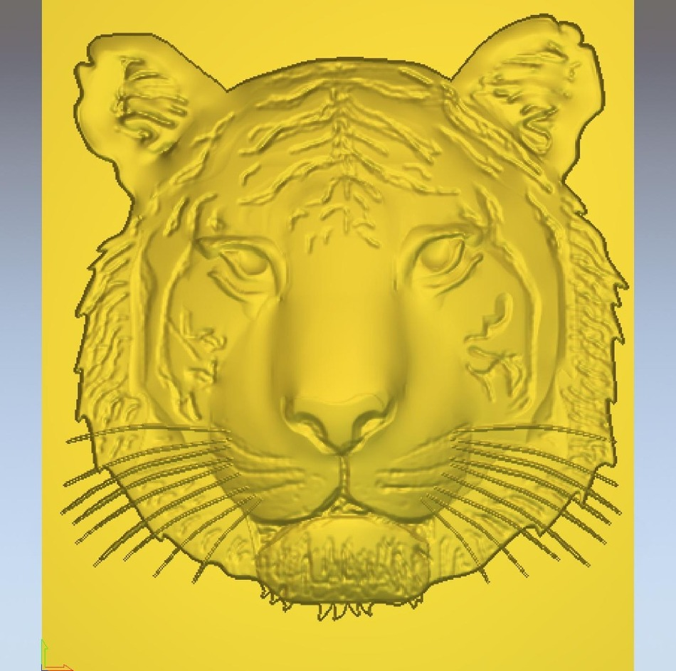 3d Model Relief  For Cnc In STL File Format Tigar_01