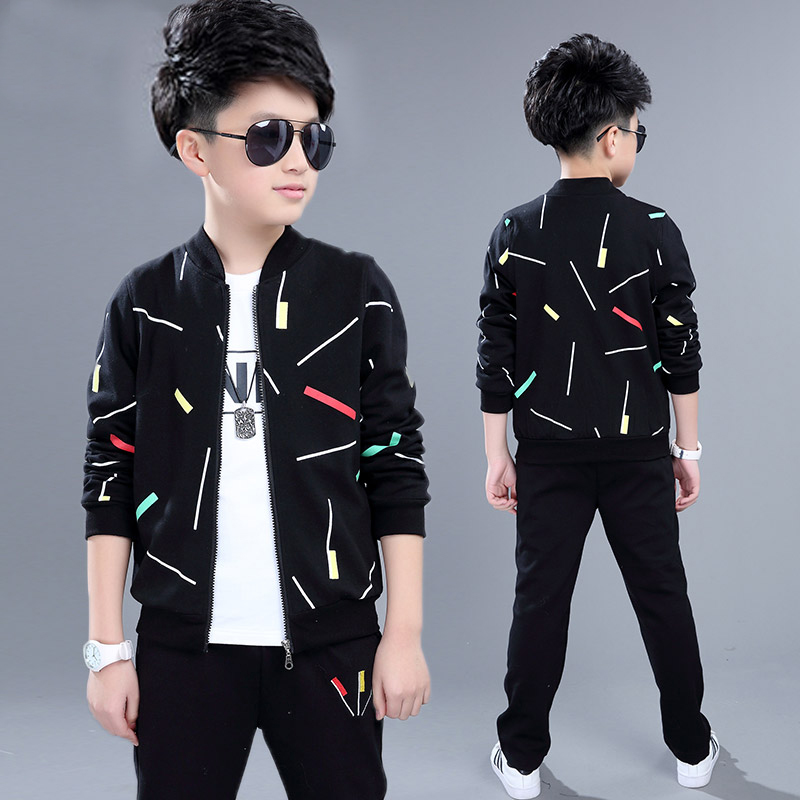 Boys Clothing Sets 2020 Spring Autumn Children Sport Suits Long Sleeve Boys Clothes 3 PCS Kids Tracksuit 4 6 8 10 11 12 13 Years