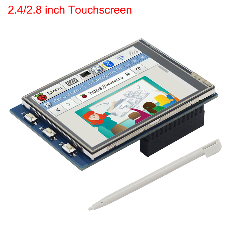 Raspberry Pi 4B 3B+ 3B  2.8 Inch 2.4 Inch Touchscreen 320*240 LCD TFT SPI Display For All Version Raspberry Pi With Touch Pen