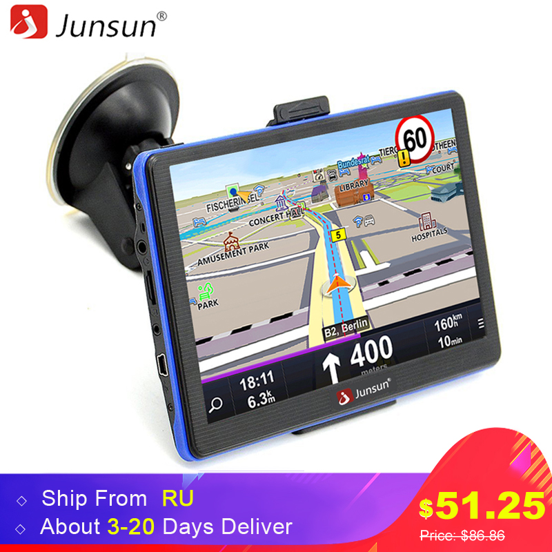 Junsun 7 inch HD Capacitive Car GPS Navigation 8 GB MP3/MP4 FM Russia map Permanent