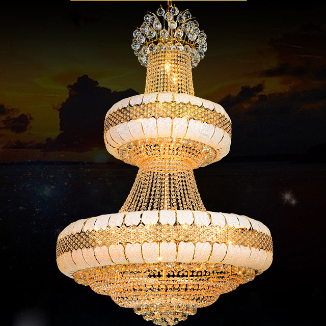 LED Crystal Chandeliers Light Fixture Modern Gold Crystal Chandelier