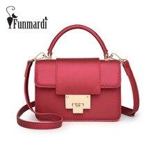 FUNMARDI candy colors PU leather women bag Fashion small messenger bag summer mini crossbody bag Fresh shoulder bag WLHB1571