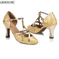 LEMOCHIC sumba cha-cha רומבה סלסה לטינית החדשה אלגנטיות נעלי גבירותיי בנות נעלי ריקוד ריקוד קלאסי זירה נוחה