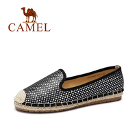Camel Shoes Women 2016 Wild Casual Lightweight Breathable Knit Fisherman Shoes Comfortable Flat Shoes Loafers A63226632