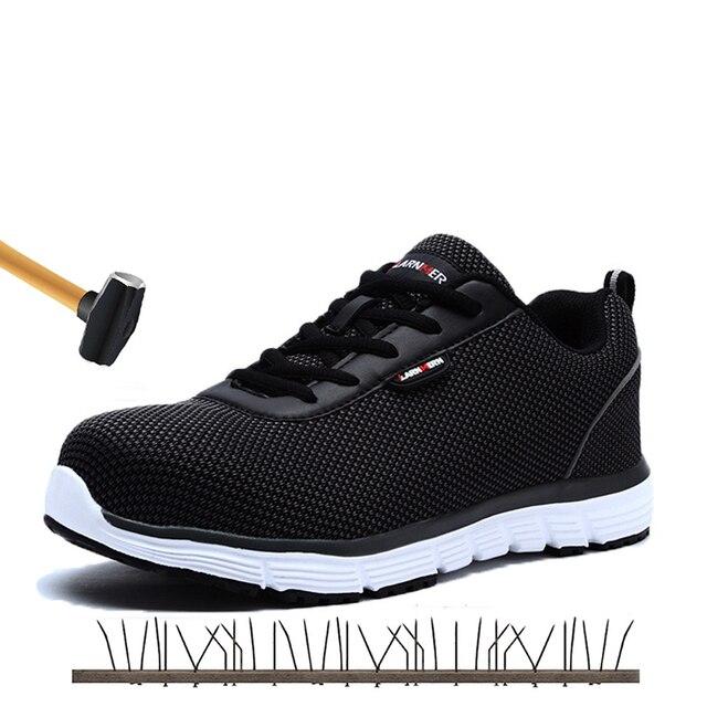 Güvenlik Ayakkabıları Erkekler Çelik Ayak Güvenlik iş ayakkabısı Erkekler Hafif Nefes Anti-Smashing Kaymaz anti-statik koruyucu Ayakkabı
