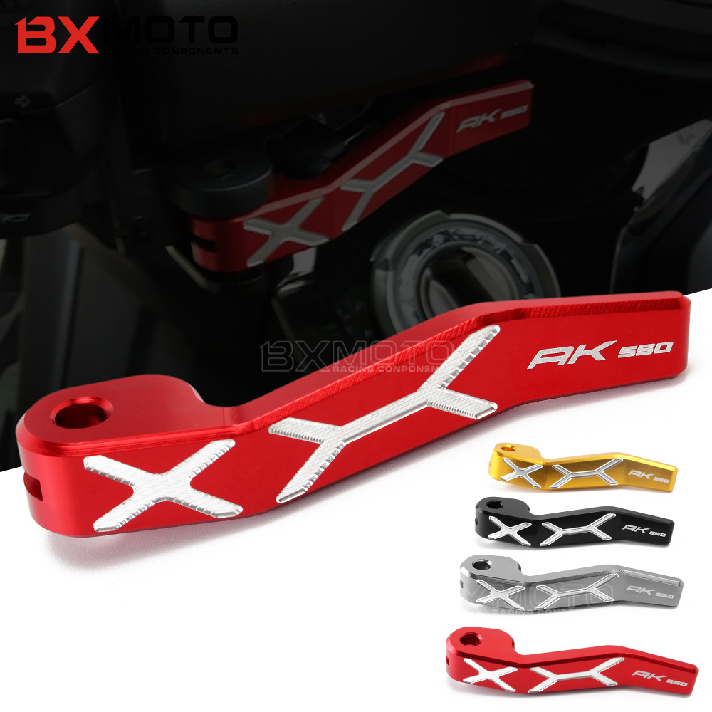 Motorcycle CNC Aluminum Parking Brake Lever For KYMCO AK550 2017 2018 with logo AK 550 mtkracing for kymco ak550 motorcycle parts headlight protector cover screen lens ak 550 2017 2018