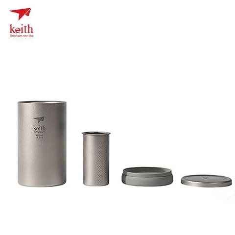 keith titanium cafeteira dupla murada de titanio