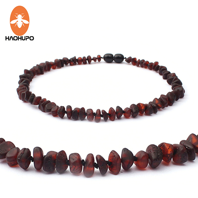 HAOHUPO Unpolished RAW Amber Necklace for Baby Gifts Teething Relief Baltic Ambe
