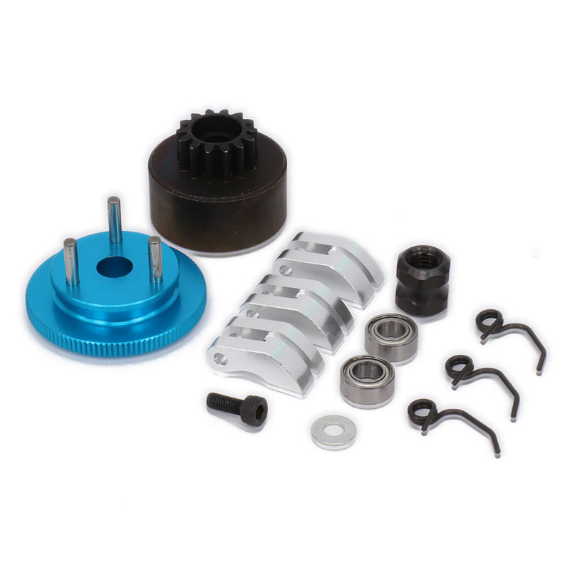 1set Clutch Bell HPI 14T Gear Flywheel Assembly Clutch Shoes flywheel Springs Cone & Engine Nut for 1/8 RC Car parts HSP jiangdong engine parts for tractor the set of fuel pump repair kit for engine jd495