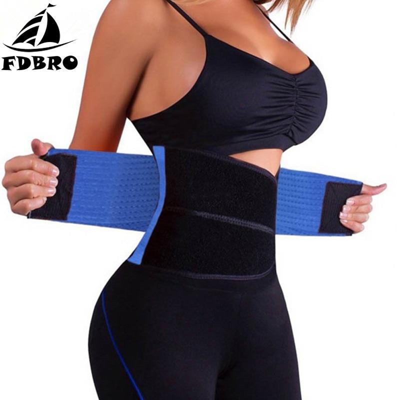 FDBRO Slimming Waist Trimmer Sport Waist Belt Sport Corset Shapewear Cincher Body Shaper Waist Support Training Fitness Girdle