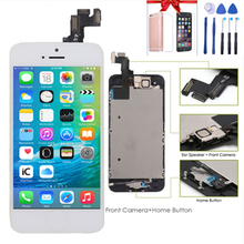 цены на Full Assembly LCD for iPhone 5S Screen Display Replacement Touch Digitizer for iPhone 5S Display+Home Button+Front Camera  в интернет-магазинах