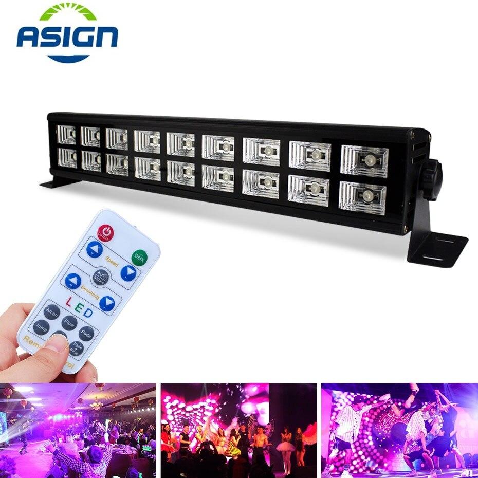 LED UV Black Light DMX Control Stage Lights 110V 220V Club Lamp Disco Laser Flash Light Dancing Party Decoration Effect Lighting