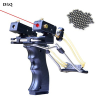 Slingshot Hunting Catapult with 2 Pcs Rubber Bands 50 Pcs Slingshot Balls Powerful Folding Wrist Fishing Shooting Sling Shot