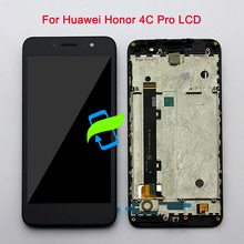 5 Original Quality For Huawei Honor 4C Pro TIT-L01 LCD DIsplay Touch Screen Digitizer Assembly with Frame For Honor 4C PRO LCD original 15 inches ltm150xs l01 lcd screen warranty for 1 year