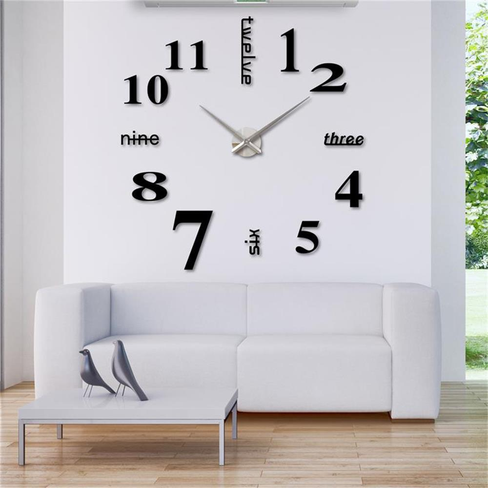 Home decorclockswall clocks 3d diy wall watch mordern horloge home decorclockswall clocks 3d diy wall watch mordern horloge mirror clock wall sticker luxury relogio de parede watch wall in wall clocks from home amipublicfo Gallery