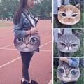 The new design women canvas shoulder bag, retro cat-shaped handbag Messenger bag casual fashion handbags 4 colors