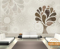 Custom abstract fashion tree flower star wallpaper mural simple line sunflower tv sofa bedroom living room cafe bar restaurant
