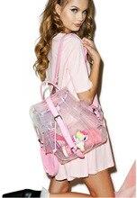 Желе Пляжные Сумки Лето Женщины Сумка Прозрачный Ежедневно Рюкзаки для Подростка Девушки Персонализированные Рюкзаки Сладкий Рюкзак Мешок A0274