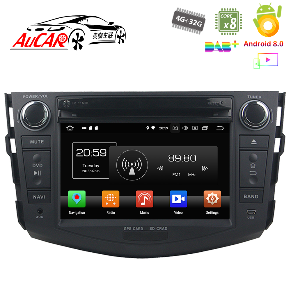 Android <font><b>Car</b></font> DVD Player for <font><b>Toyota</b></font> <font><b>RAV4</b></font> <font><b>2006</b></font> - 2012 <font><b>Car</b></font> GPS <font><b>Multimedia</b></font> system HD Bluetooth Radio WIFI 4G Stereo AUX touch screen image