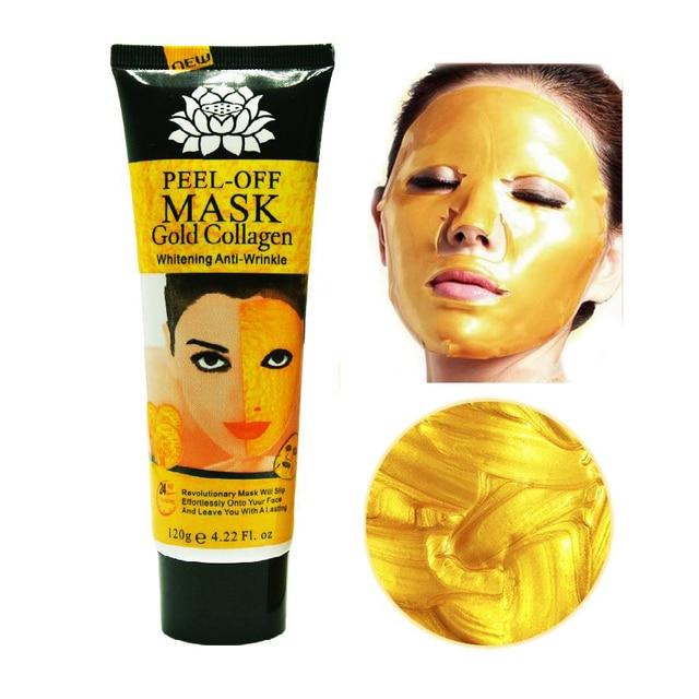 120 ml 24 K máscara dorada antiarrugas antiedad mascarilla facial cuidado facial blanqueamiento facial mascarillas para el cuidado de la piel elevación reafirmante