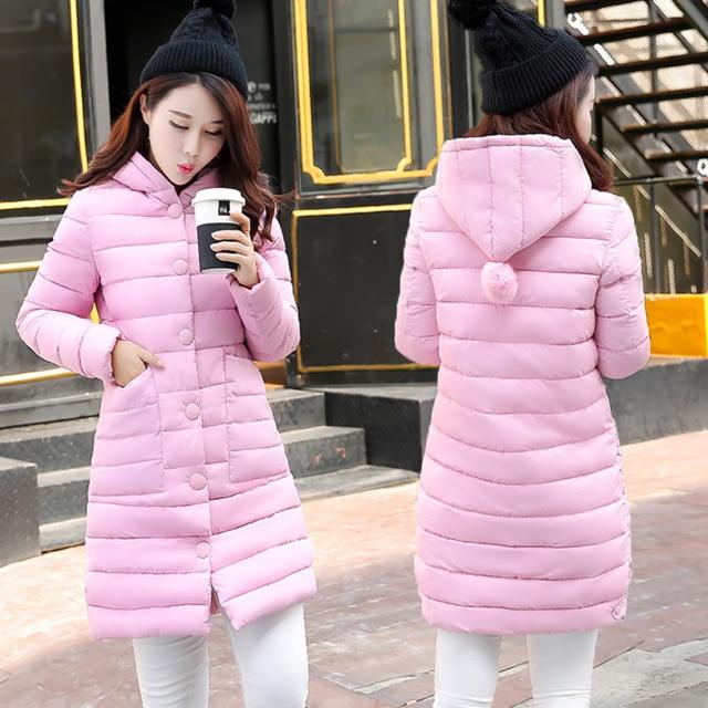 2016 New Winter Fashionable Slim Hooded Stitching Ball Warm Down Padded Female Winter Jacket Women Coat Jaqueta Feminina Casaco