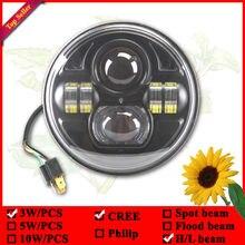 7″ round led headlight 7inch 45w led headlight round Low+High Beam LED wrangler driving lamps 12v 24v led truck lights