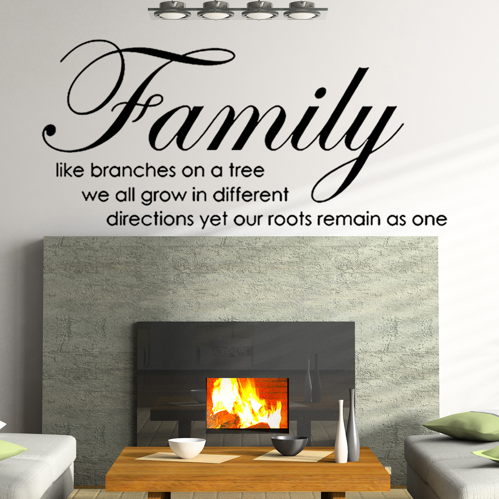 family like branches on tree wall stickers quotes vinyl letterings sayings wall decals 12
