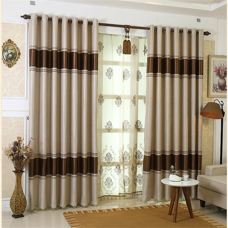 Fabric Elegant Luxury Blackout Curtains For Living Room Jacquard Blinds Drapes Damask European Window Treatments Panel T66#4