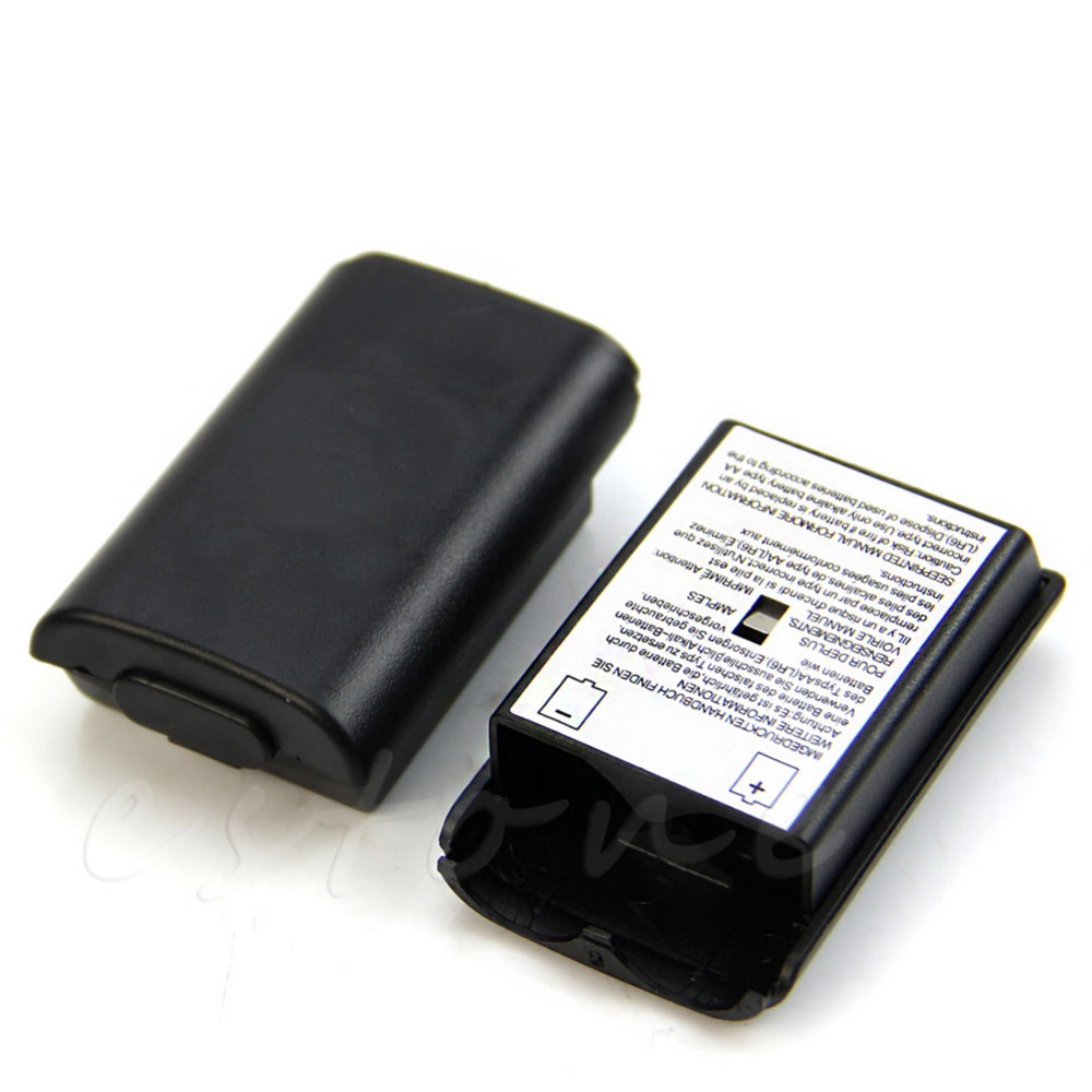 2Pc AA Battery Back Cover Case Shell Pack For Xbox 360 Wireless Controller New