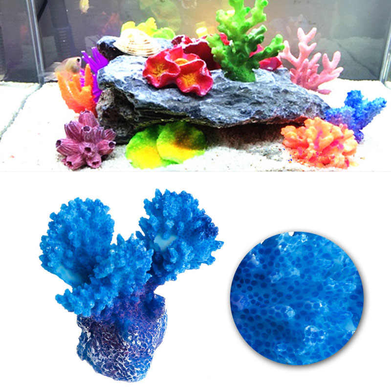 On Sale Aquarium Mini Artificial Resin Coral Tree Underwater Ornament Landscape Decor