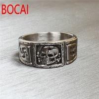 AJ084 American Jewelry Supply Retro Germany Skull Titanium Ring Men S Personality