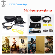 Tactical Glasses FS X7 Polarized Sunglasses Airsoft Oculos Military Goggles Shooting Eyewear Hiking Hunting Glasses Sport Gafas